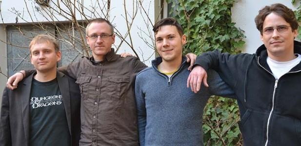 Hat gut Lachen: Der Millionärsclub vom Hanfverband: v.l.n.r: Max Plenert, Georg Wurth, Florian Rister und Denis Magnani