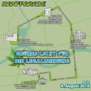 Abbildung: Route der Hanfparade 2014