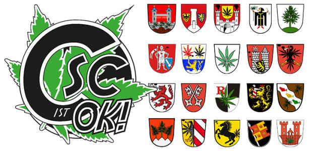 csc-ist-ok-kampagne-kampagenstart-wappen-städte-cannabis-social-club-cannabissocialclub-bayern-deutschland