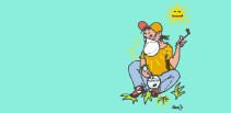 mariJo-astma-hanf-blau-zeichnung-maske-bong-kiffen-sonne-paint